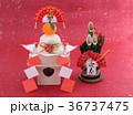 鏡餅 門松 正月イメージの写真 36737475