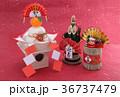 鏡餅 門松 正月イメージの写真 36737479