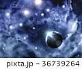銀河 宇宙 キラキラのイラスト 36739264