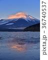 冬 富士山 山中湖の写真 36740537