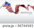 American Flag Ribbon Design 36744583