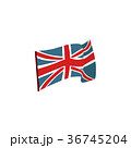 Flat style waving Union Jack, British flag 36745204