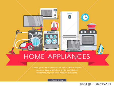 vector flat home appliance sale icon 36745214