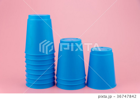 blue stacks plastic cups. Speed stack cup. 36747842