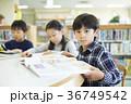 小学生 図書室 読書の写真 36749542