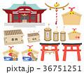 神社のイラストセット 36751251