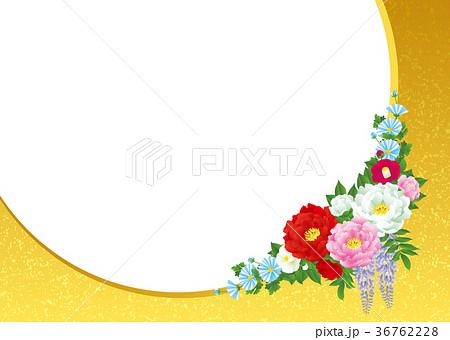 和風の花束 和風素材 36762228