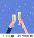 乾杯 ベクトル ぶどう酒のイラスト 36766646