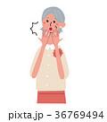 ベクター 女性 シニアのイラスト 36769494