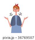 人物 表情 女性のイラスト 36769507