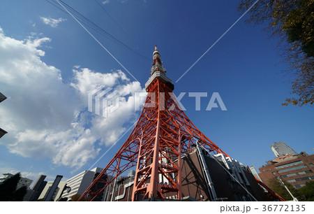 青空と雲と東京タワー 36772135