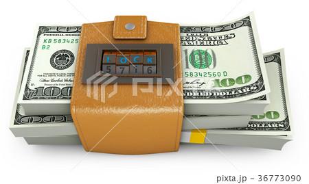 Swollen purse and combination lock 36773090