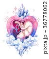 ベビー 水彩画 胎児のイラスト 36778062