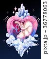 ベビー 水彩画 クリスタルのイラスト 36778063