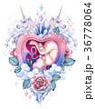 Watercolor embryo inside the womb with fantasy 36778064