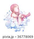 ベビー 赤ちゃん 透明水彩のイラスト 36778069