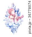 ベビー 赤ちゃん 透明水彩のイラスト 36778074