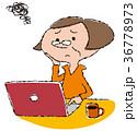 人物 ノートパソコン シニアのイラスト 36778973