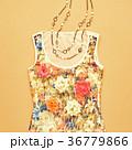 ファッション 流行 平面図の写真 36779866