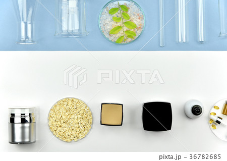 Collection of cosmetic bottle container laboratoryの写真素材 [36782685] - PIXTA