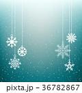 雪片 クリスマス 背景のイラスト 36782867