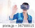 技術 コラージュ 貼り絵の写真 36788015
