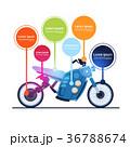 オートバイ バイク モトのイラスト 36788674