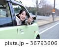 運転する女の子 36793606