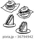 ベーグル ベーグルサンド サンドイッチのイラスト 36794942