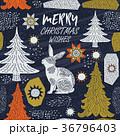 クリスマス ベクトル 樹木のイラスト 36796403