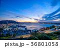 夕景 風景 関門海峡の写真 36801058