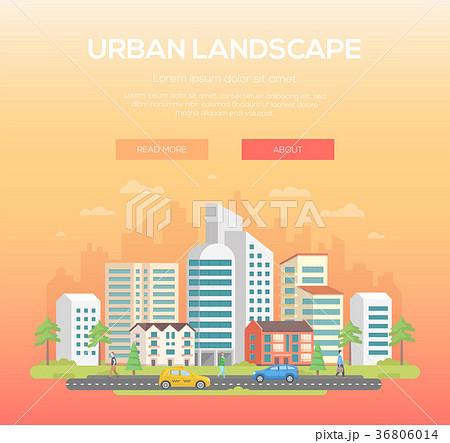 Urban landscape - modern vector illustration 36806014