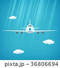 飛行機 空 フロントのイラスト 36806694