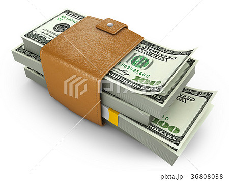 purse with dollars 36808038