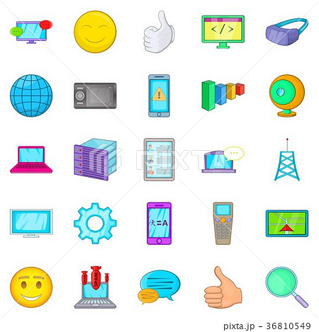 Secret information icons set, cartoon style 36810549