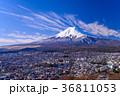 富士山 富士吉田市 冬の写真 36811053