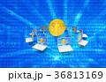 ビットコイン フィンテック パソコンのイラスト 36813169