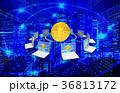 ビットコイン フィンテック パソコンのイラスト 36813172