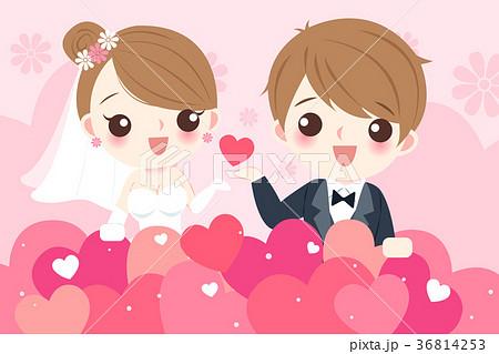cartoon wedding peopleのイラスト素材 36814253 pixta