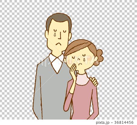 一對夫婦在30多歲時擁抱哭泣 36814456