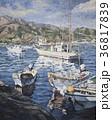 油絵 網代漁港 漁港のイラスト 36817839
