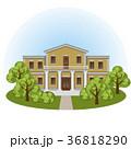 Manor house in spring landscape 36818290