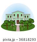 Manor house in summer landscape 36818293