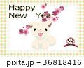 年賀状 戌 犬のイラスト 36818416