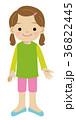 子供 女の子 全身のイラスト 36822445