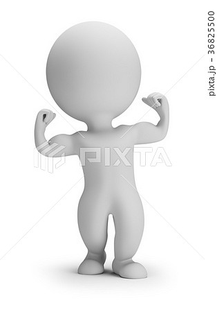 3d small people - shows muscles 36825500