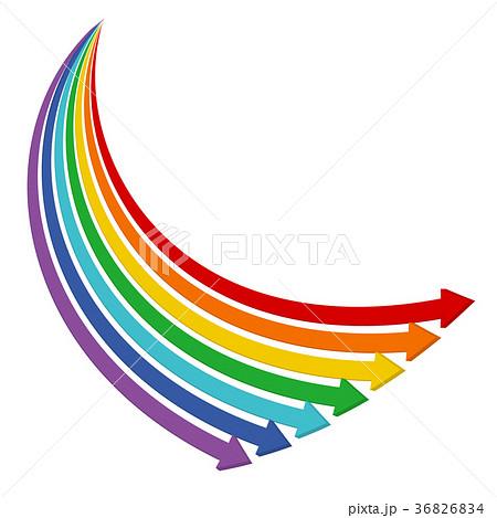 矢印 虹色 カラフルのイラスト素材 36826834 Pixta
