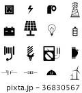 アイコン イコン 電気屋のイラスト 36830567