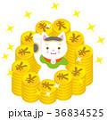招き猫とお金。和風素材。 36834525