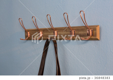 Bag hanging on hookの写真素材 [36848383] - PIXTA